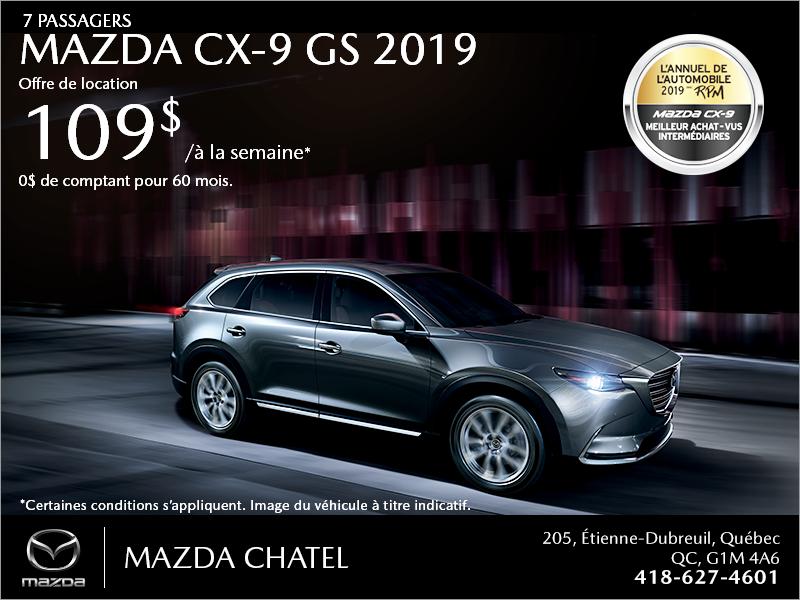 Procurez-vous la Mazda CX-9 2019!