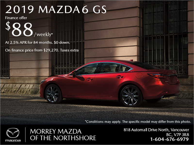 Get the 2019 Mazda6 today!