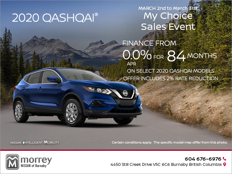 Morrey Nissan Of Burnaby Get The 2020 Qashqai Today