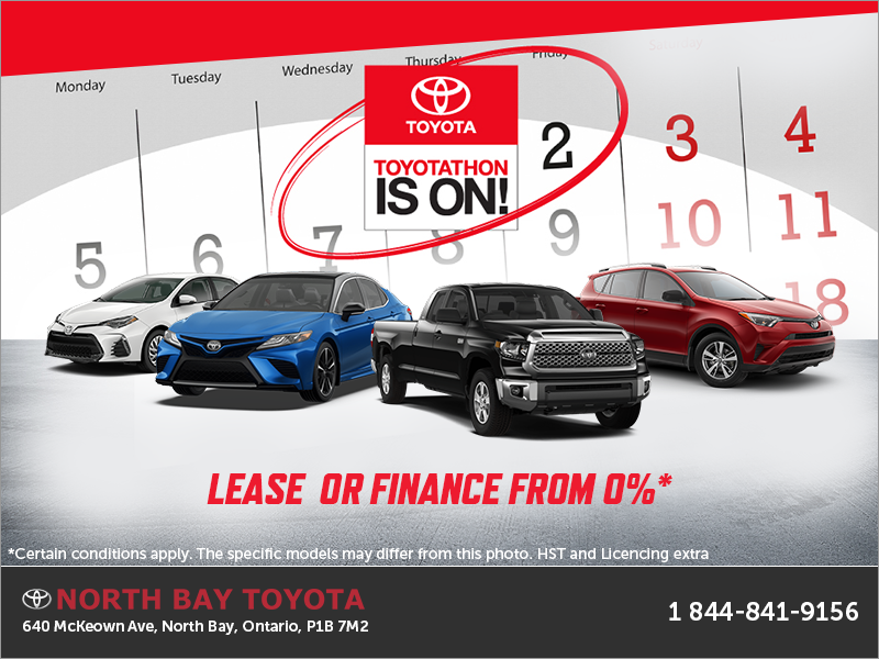 The wait is over. Get a Toyota today!