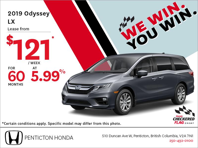 Get the 2019 Honda Odyssey Today!