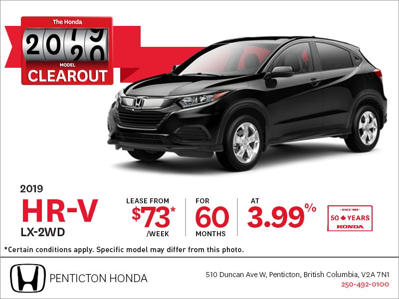 Lease the 2019 Honda HR-V Today!