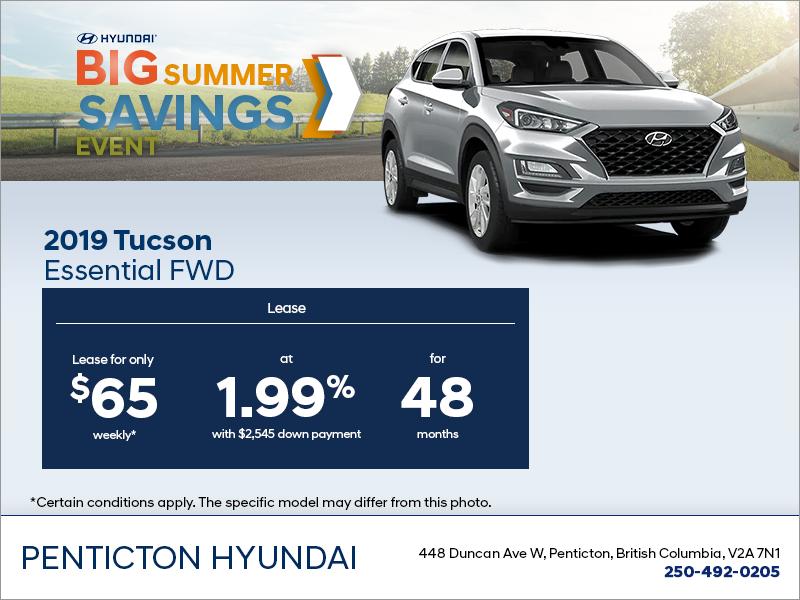 Lease the 2019 Tucson!