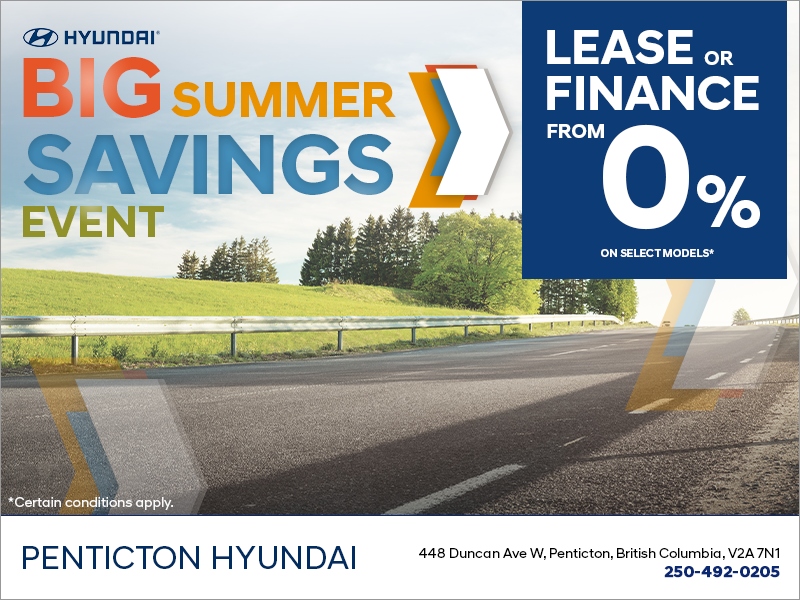 The Hyundai Big Summer Savings Event!