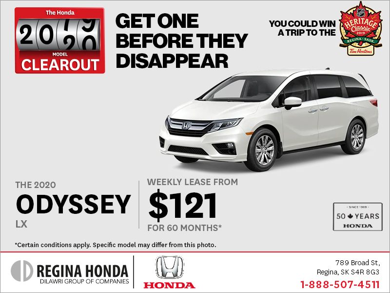 Lease a 2020 Honda Odyssey Today!