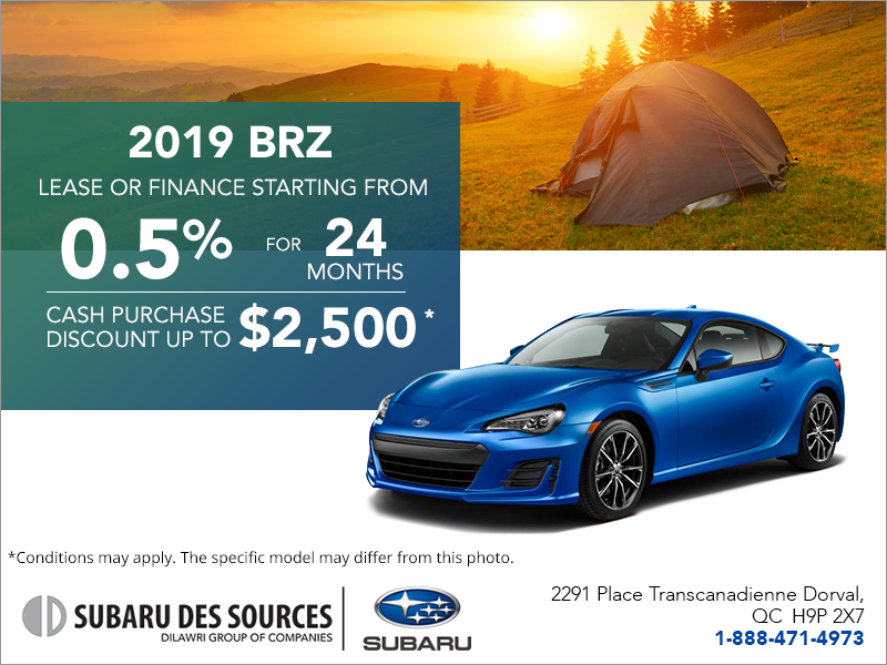 Lease A Subaru >> Subaru Des Sources In Dorval Get The 2019 Brz Today