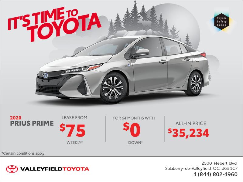 Prius Prime Lease >> 2020 Toyota Prius Prime Valleyfield Toyota