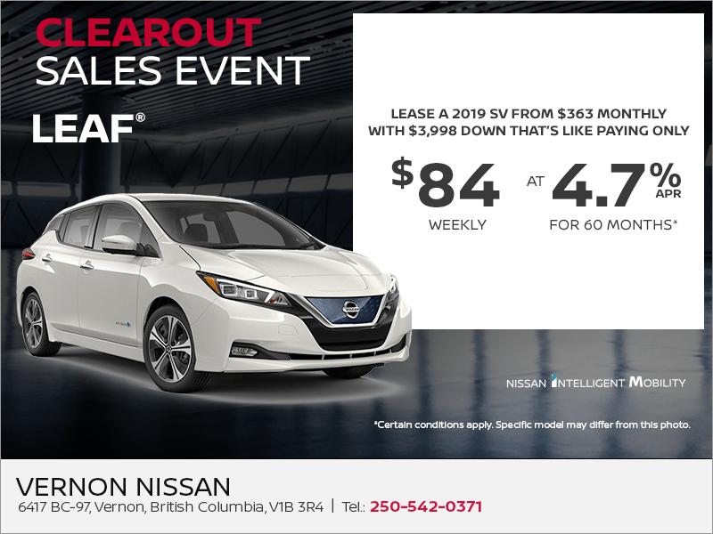 Vernon Nissan | Get the 2019 Nissan Leaf