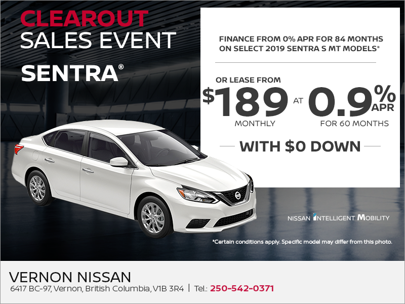 Get the 2019 Nissan Sentra Today!