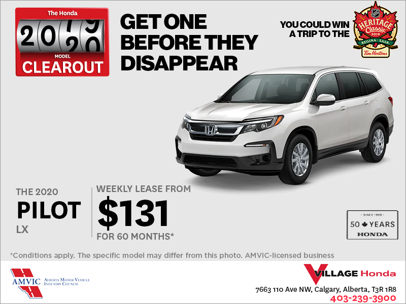 Get a 2020 Honda Pilot Today!
