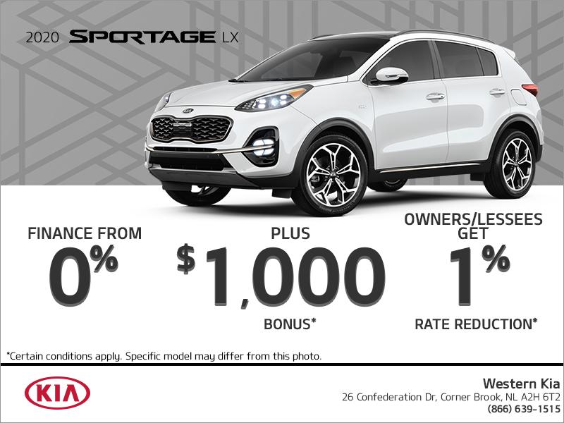 Get the 2020 Kia Sportage!