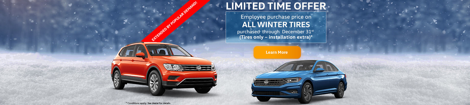 NOW EXTENDED! Get Employee Purchase Pricing on All Winter Tires!