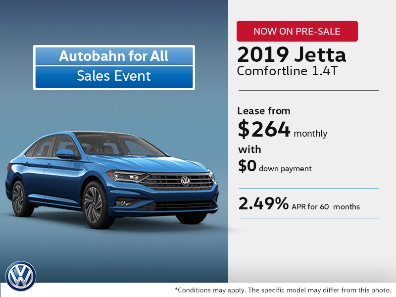 Get the 2019 Jetta Today! On pre-sale!