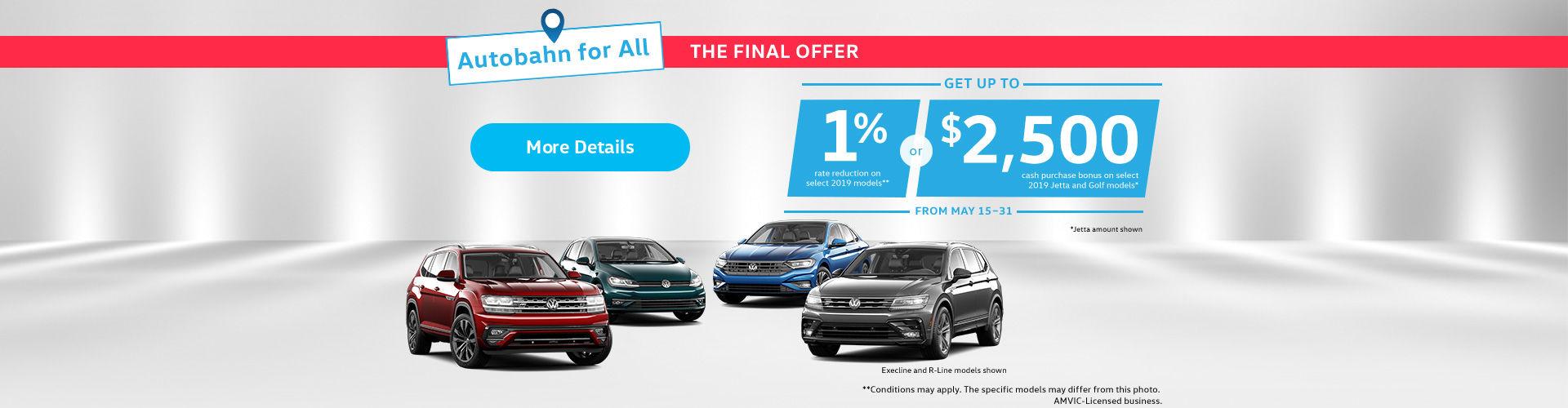Volkswagen monthly sales event!