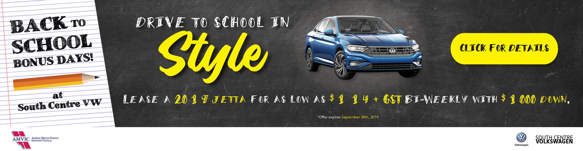 Back to School Jetta Lease Special