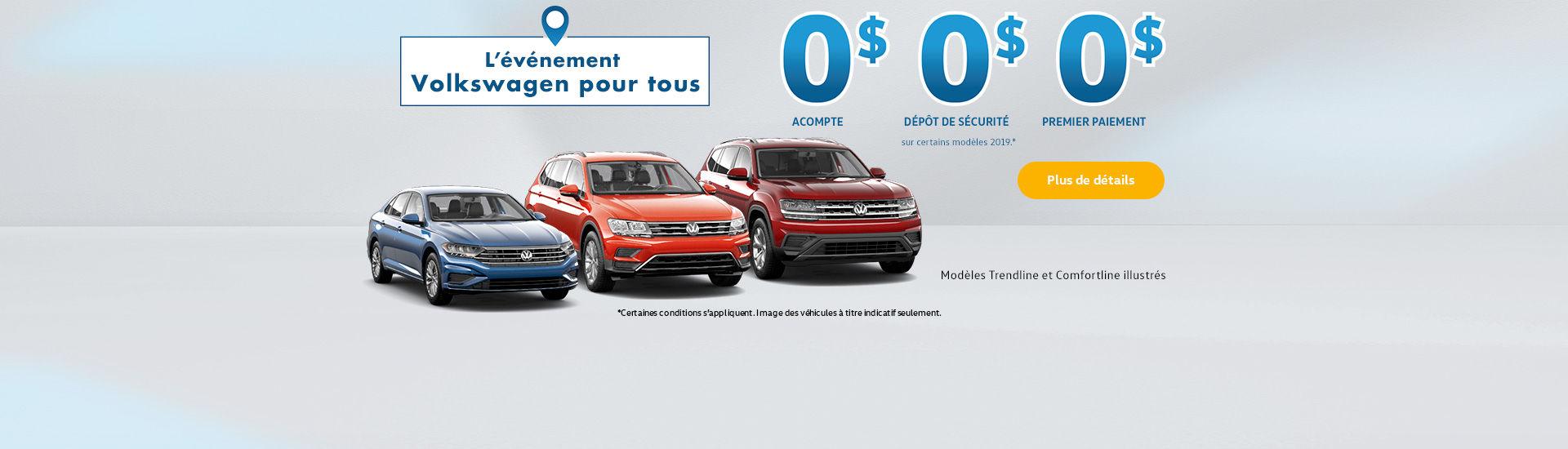 L'événement mensuel de Volkswagen pour tous