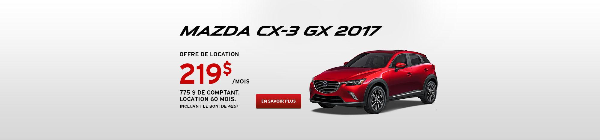 Promo Mazda CX-3 Fr