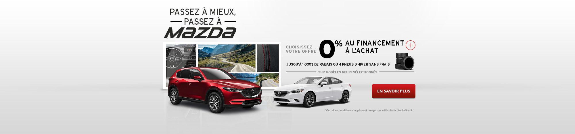 Passez à Mazda Septembre