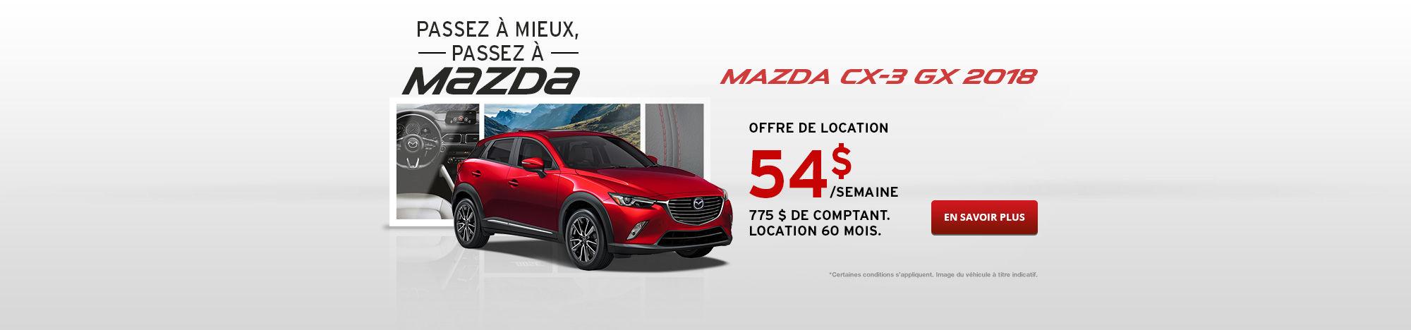 Passez à Mazda Septembre - CX-3
