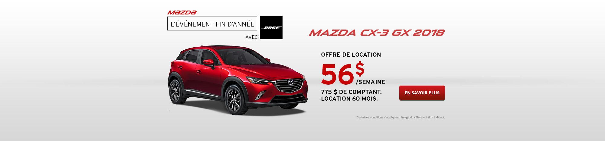 Passez à Mazda CX-3