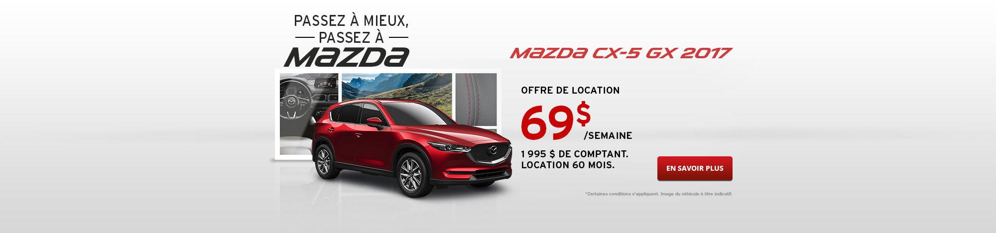 Passez à Mazda Septembre - CX-5