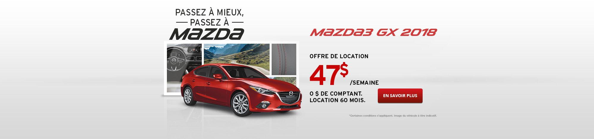 Passez à Mazda Septembre - Mazda3