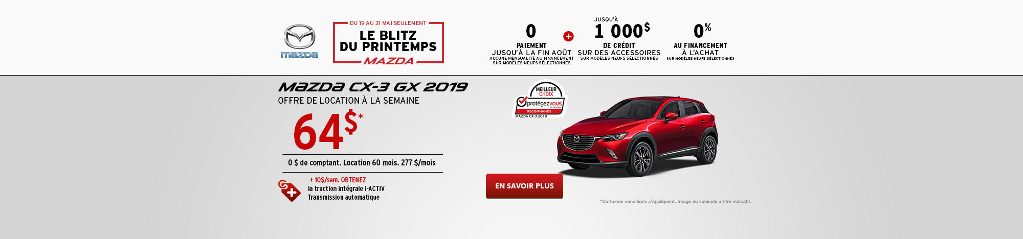 L'événement Passez en mode printemps Mazda CX-3 - Mai -