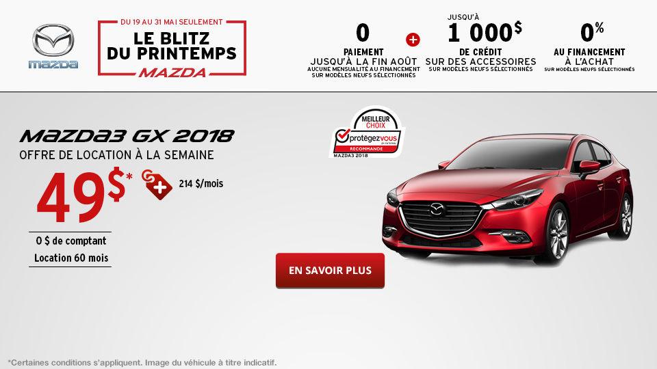 L'événement Passez en mode printemps Mazda 3 - Mai -