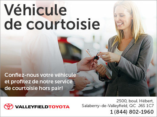 Véhicule de courtoisie chez Valleyfield Toyota