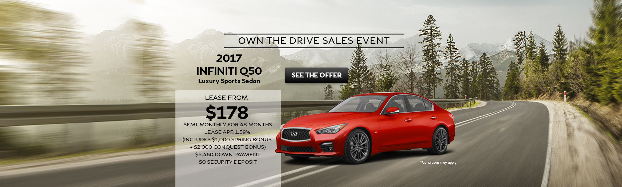 Own The Drive Sales Event Q50 Sedan