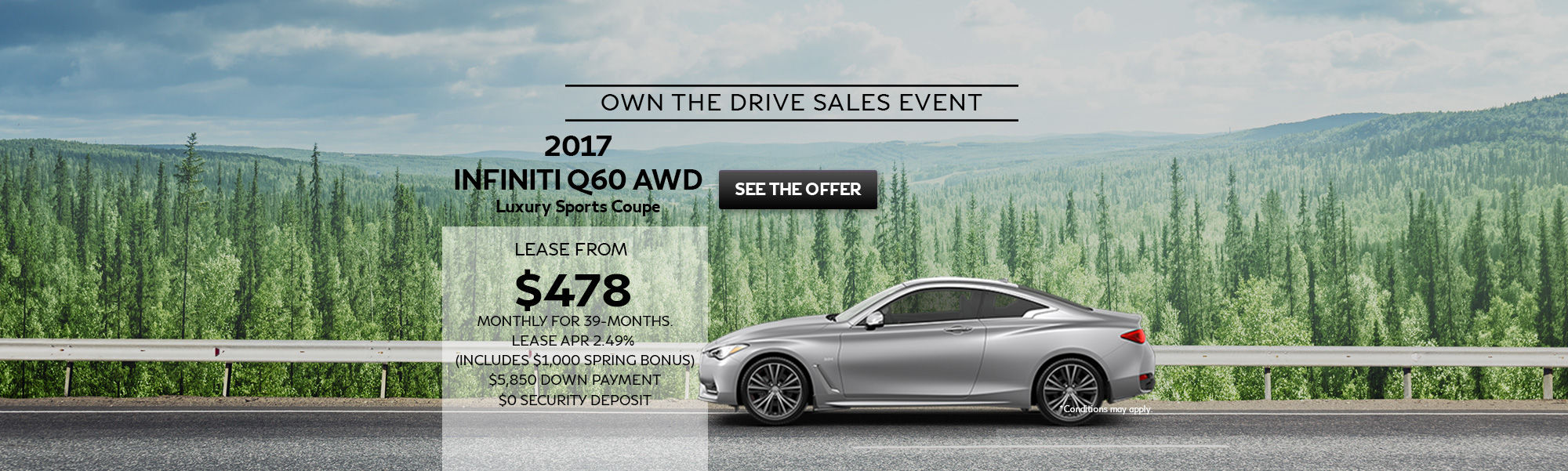 Own The Drive Sales Event Q60 AWD