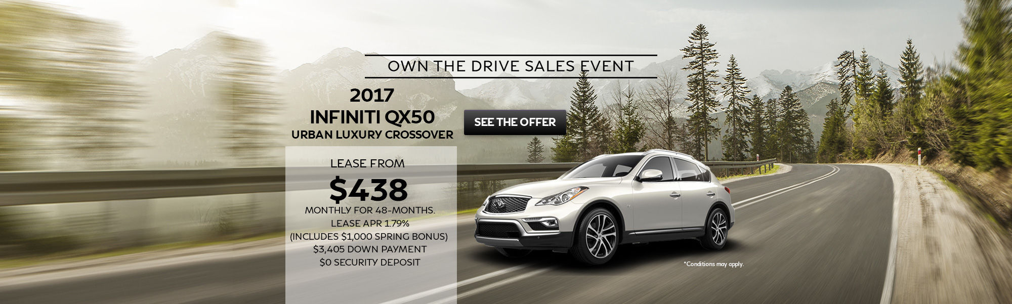 Own The Drive Sales Event QX50 Urban