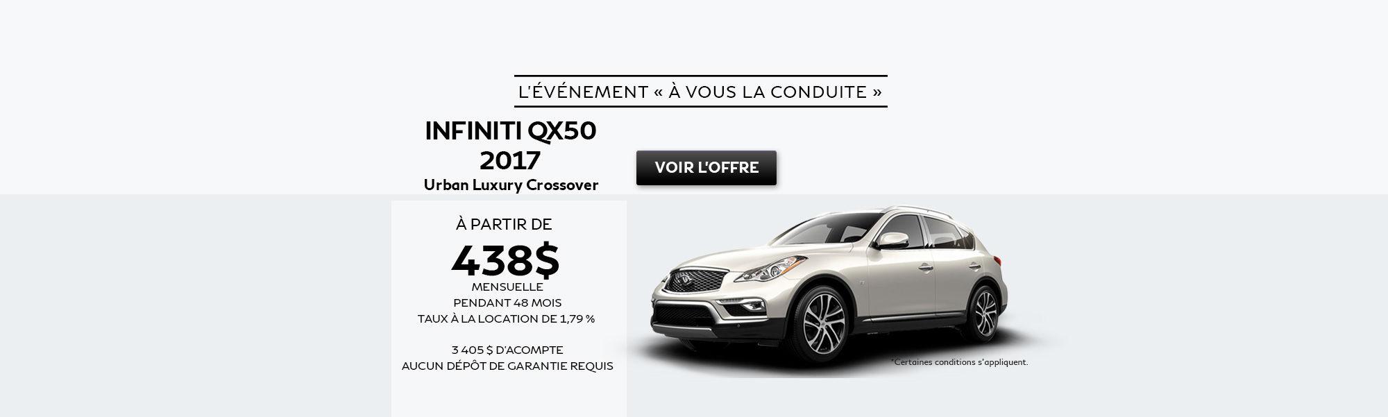 L'événement à vous la conduite - QX50
