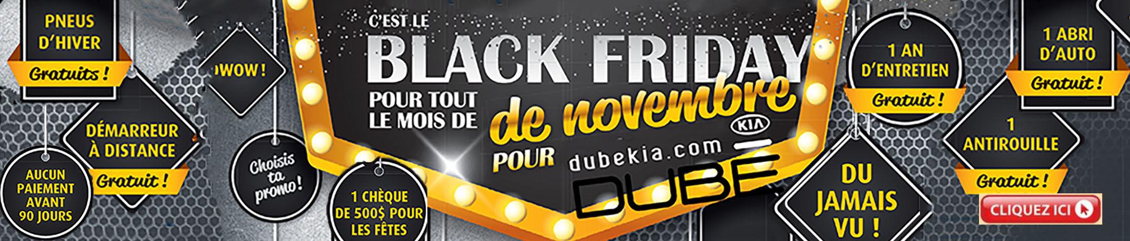 Black Friday chez Dubekia.com