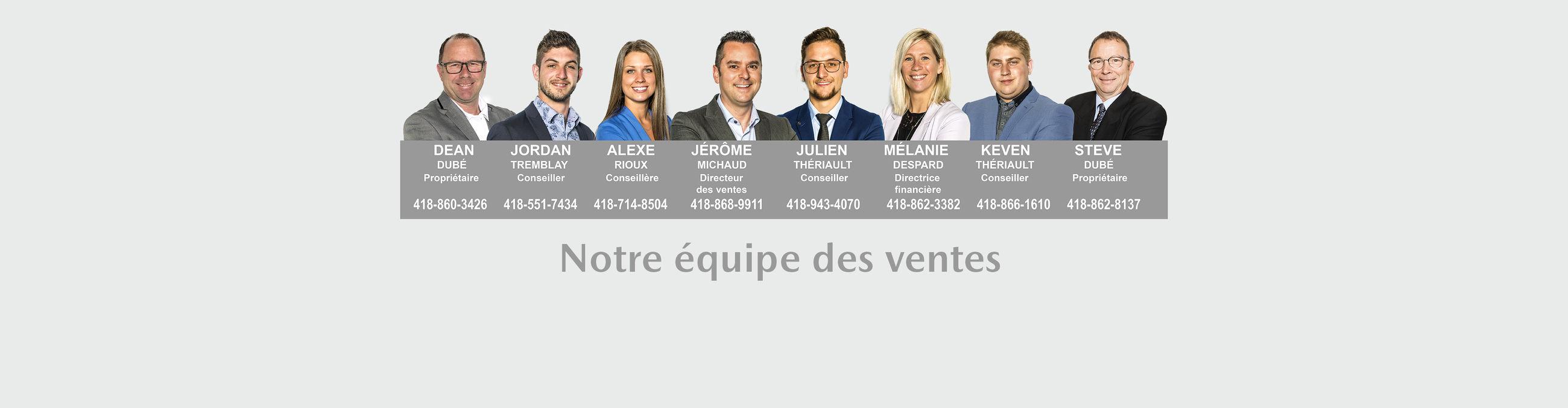 équipe des ventes DubeMazda