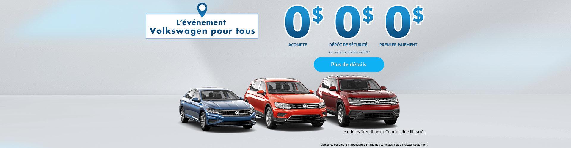 Événement Volkswagen pour tous