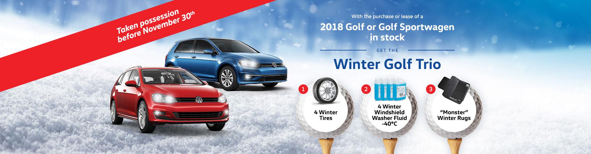 Winter Golf Trio