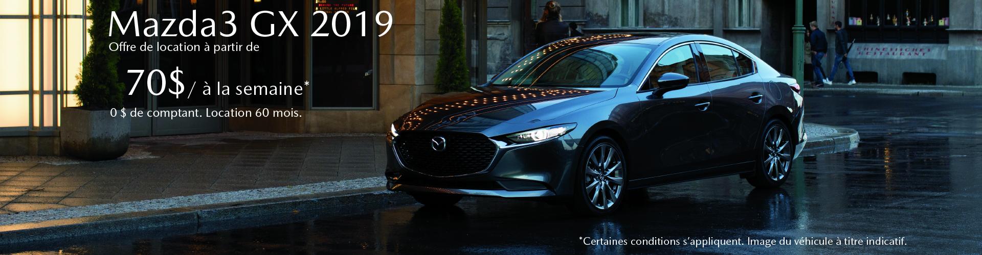 FR Mazda3 GX 2019 (Anjou)