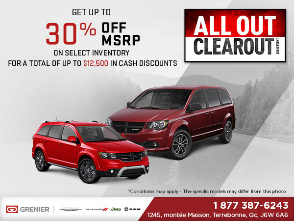 Dodge All Out Clearout Grenier Chrysler Dodge Jeep