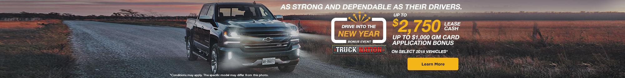 Drive Into the New Year Bonus Event - Chevrolet