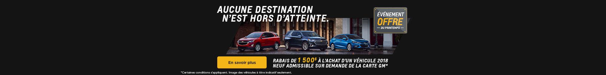 L'événement Offre du printemps - Chevrolet
