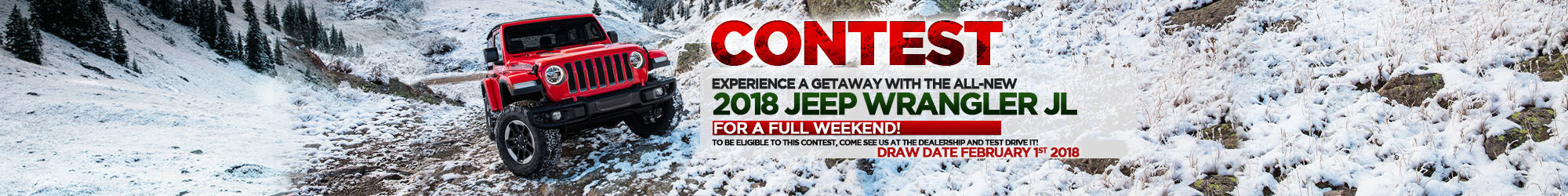 Experience a getaway in 2018 JEEP