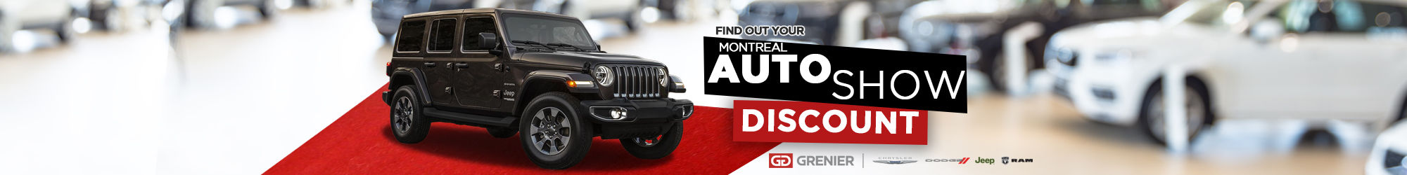 Find out about your auto show discount