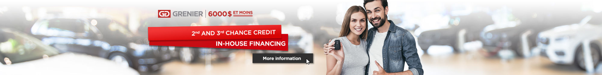 2nd and 3rd credit chance / In-house financing