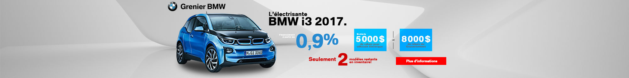 BMW i3 en inventaire