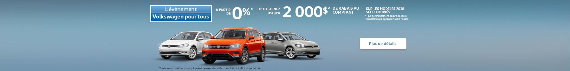 L'évènement Volkswagen pour tous