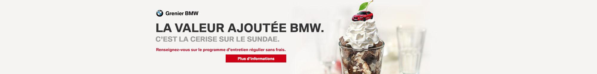 Valeur ajoutée Grenier BMW
