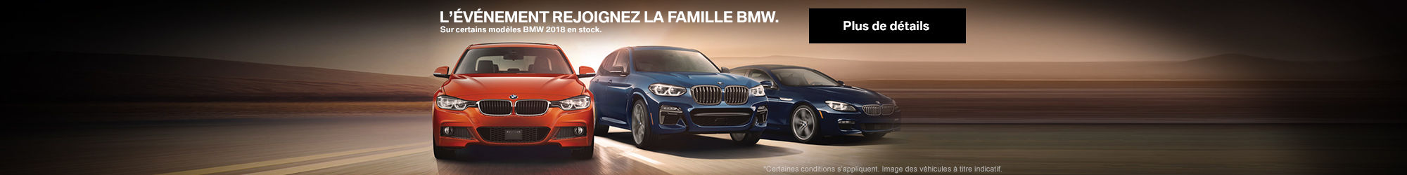 L'ÉVÉNEMENT REJOIGNEZ LA FAMILLE DE BMW