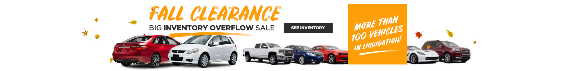 FALL CLEARANCE big inventory overflow sale