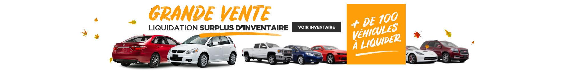 GRANDE VENTE liquidation surplus d'inventaire